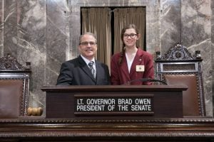 Lt. Gov. Owen with Page Bronte Polette