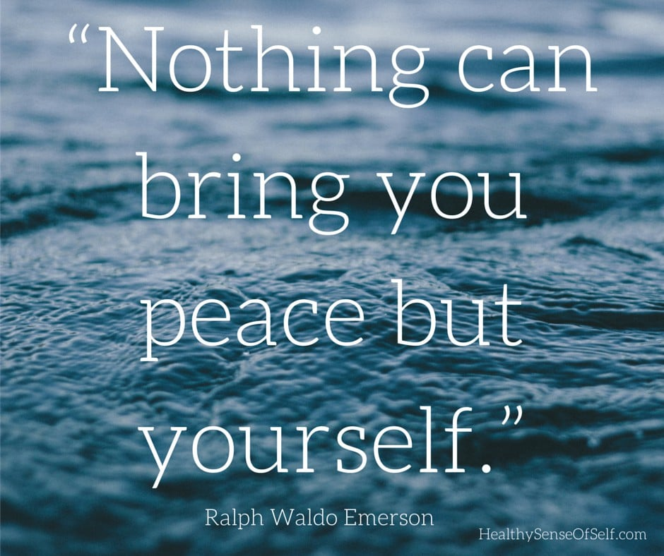 """Nothing can bring you peace but"
